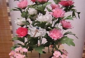 牡丹の台 蜻蛉二疋・石竹 岩清水八幡宮蔵