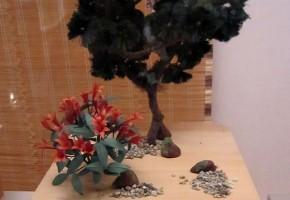 松の台 鳩二羽・巣籠子二羽・藤・躑躅 岩清水八幡宮蔵