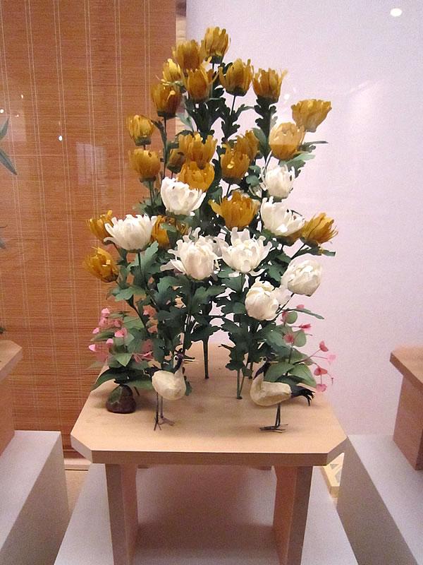 菊の台 鶴二羽・秋海棠 岩清水八幡宮蔵