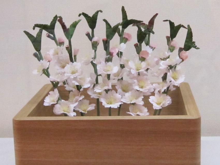 薬師寺の花会式 (修二会) 造り花 桜